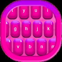 Ícone do apk Teclado cor -de-rosa quente