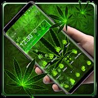Icône apk Green Weed Gravity Theme