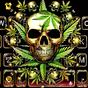 Thème de clavier Gold Weed Skull 1.0