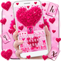 Pink Love Heart Keyboard Theme 10001003