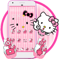 Ikon apk Hello Princess Kitty Pink Cute Cartoon Theme