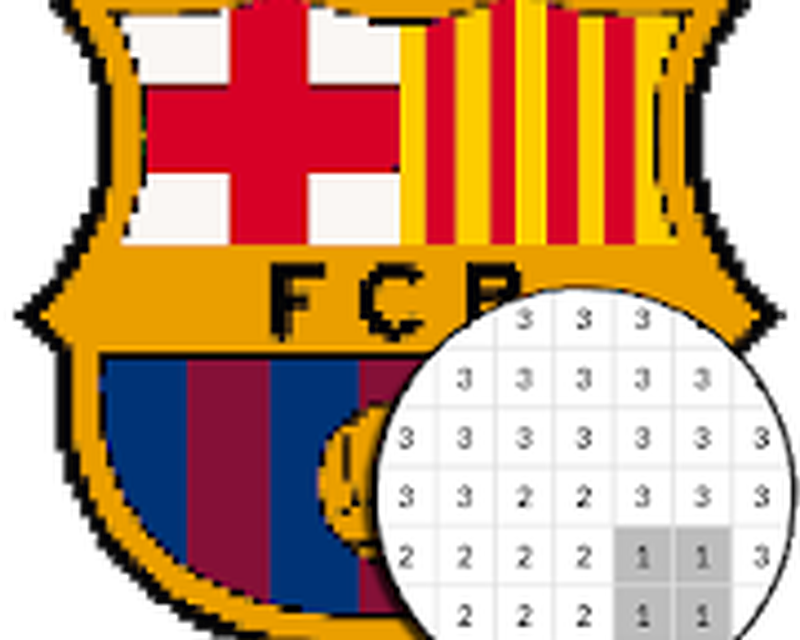 Pixel Art Logo Club De Foot