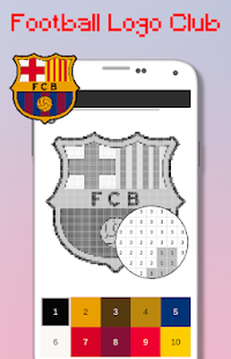 Football Logo Club Color By Number Pixel Art Android