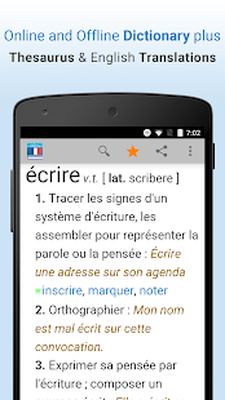 French Dictionary & Thesaurus Android - Free Download French