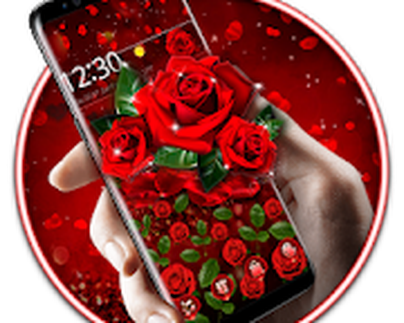 Romantic Red Rose Gravity Theme Android Free Download
