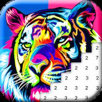 Animals Color by Number: Animal Pixel Art APK Icon