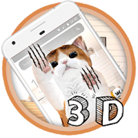 Tema blanco lindo del gato apk icono