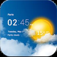 Ikon Transparent clock & weather