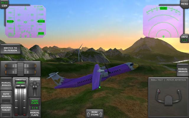 download game turboprop flight simulator 3d