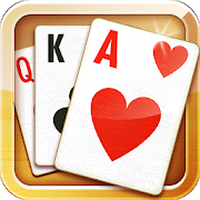 Solitaire classic card game Simgesi