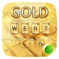 Icône de Gold Pro GO Keyboard Theme