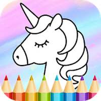 Ícone do Unicorn Coloring Book