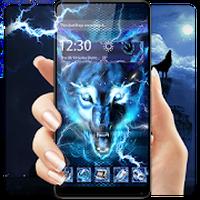 Icoană 3D Blue Ice wolf theme