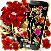 Gold Rose Live Wallpaper Android Free Download Gold Rose Live