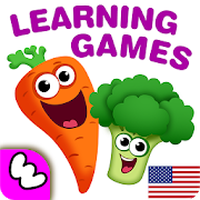 FUNNY FOOD 2! Kindergarten Learning Games for Kids icon