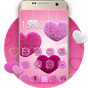 Pink launcher: Lovely diamond Heart Theme 3.9.10