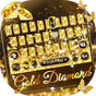 Gold Diamond Keyboard Theme 104.0