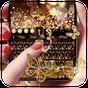 Gold Glitter Butterfly Keyboard 10001005