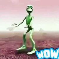 The green alien dance icon