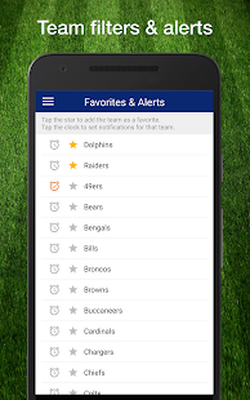 Football NFL 2017 Schedule, Live Scores, & Stats Android