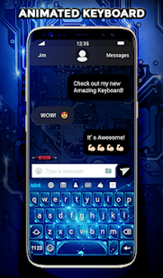 Blue Light Animated Keyboard Live Wallpaper 210 Android