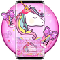 Lovely Cuteness Pink Unicorn Keyboard Theme 6.9.12.2018