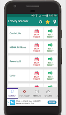 Lottery Ticket Scanner - Lotto Results Checker Android - Free