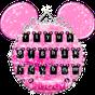 Rosa lindo Minny Bowknot tema del teclado 10001002
