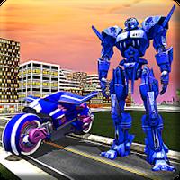 Real Moto Robot Transform: Flying Bike Robot Wars Simgesi
