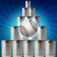 Cans Hit Knock Down - Baseball Can Shooter Smash Simgesi