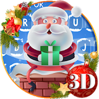 Cute Santa Christmas Keyboard Theme icon