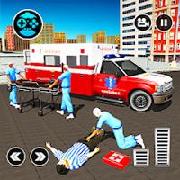 Ikon 911 Ambulance City Rescue: Game Mengemudi Darurat