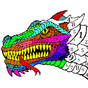 Dragons Color by Number - Animals Coloring Book 1.1