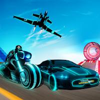 Tron Bike Stunt Transform Car Driving Simulator APK icon