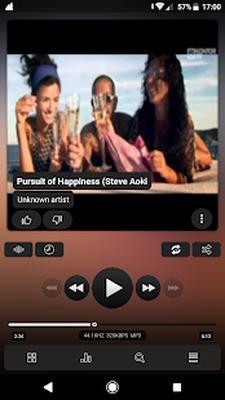 Androidの Poweramp v3 skin minimalist dark - アプリ Poweramp v3 skin