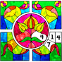 Stained Glass Color by Number: Adult Coloring Book 1.6