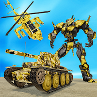 US Army Helicopter Robot Transformation War APK icon