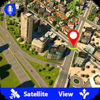 Ícone do GPS Satellite Live Maps Navigation & Direction