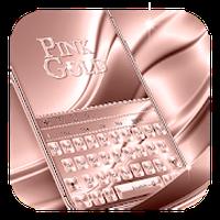 Ícone do Teclado Rosa Dourado