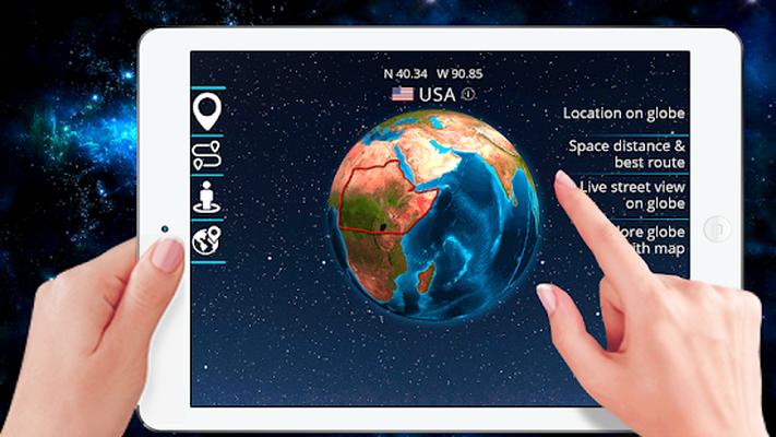 Descarcă 3d Pămant Glob Lume Hartă Panoramă 360 Satelit 1 4 Apk