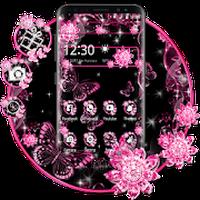 Ícone do Rosa Preto Flores tema