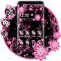 Pink Black Flowers Theme 1.1.4