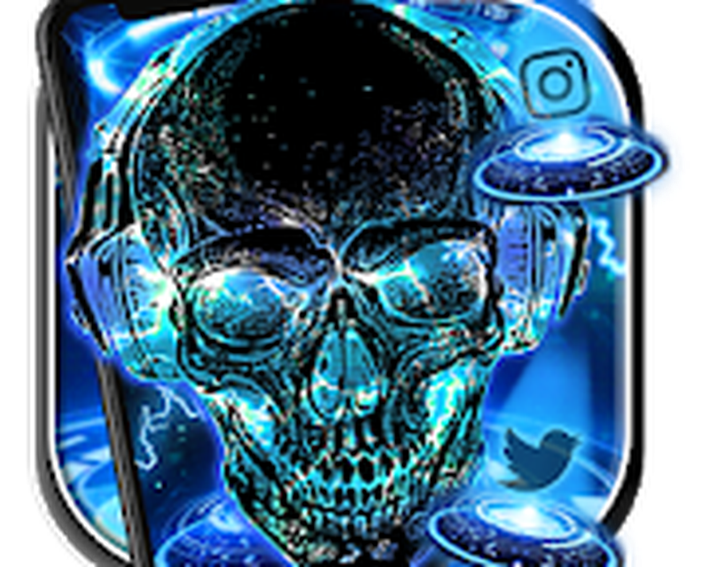 Neon Tech Skull Themes Hd Wallpapers 3d Icons Android Free