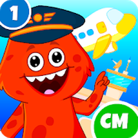 My Monster Town - Airport Games for Kids icon