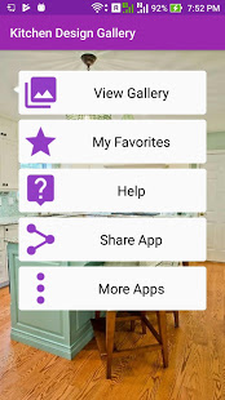 Android Kitchen Design App