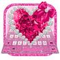 Glitter Pink Crystal Diamond Heart Keyboard Theme 1.0.0
