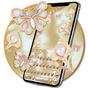 3D Golden Diamond Flower Pearl Keyboard Theme 1.1.3
