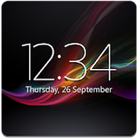 Digital Clock Widget Xperia Simgesi