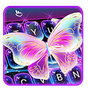 Colorful Glitter Neon Butterfly Keyboard Theme 6.5.10.2019