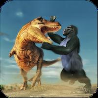 Gorilla Battle: Dinosaur World Survival icon
